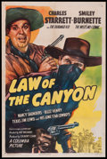"""Movie Posters:Western, Law of the Canyon (Columbia, 1947). One Sheet (27"""" X 41""""). Western.. ..."""
