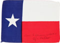 Explorers:Space Exploration, Apollo 14 Flown State Flag of Texas Directly from the PersonalCollection of Mission Lunar Module Pilot Edgar Mitchell, Signed...