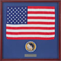 Explorers:Space Exploration, Apollo 12 Flown Large American Flag Originally from the PersonalCollection of Mission Lunar Module Pilot Alan Bean. ...