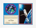 Explorers:Space Exploration, International Space Station Zarya Module and Space ShuttleEndeavour (STS-88) Flown Mission Insignia Patch Present...