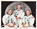 Autographs:Celebrities, Apollo 11 White Spacesuit Color Photo Signed for the Crew by NeilArmstrong....