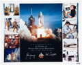 Autographs:Celebrities, Space Shuttle Columbia (STS-1) Crew-Signed Large LimitedEdition Color Photo....