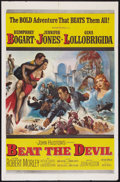 "Movie Posters:Adventure, Beat the Devil (United Artists, 1953). One Sheet (27"" X 41""), LobbyCards (3), and Pressbook (Multiple Pages, 11"" X 17""). Ad... (Total:5 Items)"