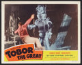 """Movie Posters:Science Fiction, Tobor the Great (Republic, 1954). Lobby Card (11"""" X 14""""). ScienceFiction.. ..."""