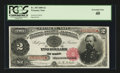 Large Size:Treasury Notes, Fr. 355 $2 1890 Treasury Note PCGS Extremely Fine 40.. ...