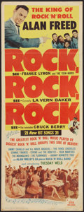 """Movie Posters:Rock and Roll, Rock, Rock, Rock (DCA, 1956). Insert (14"""" X 36""""). Rock and Roll....."""