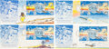 Explorers:Space Exploration, Robert T. McCall: Four Beautifully Hand-Painted and Signed LargeFirst Day Covers, Originally from His Personal Collection....(Total: 4 Items)