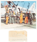"Autographs:Celebrities, ""Mercury Seven"" NASA Astronaut Group One Color Photo Signed by Sixwith Separate Signature of the Seventh, Gus Grissom.... (Total: 3Items)"