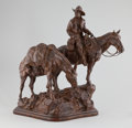 Sculpture, TIM SHINABARGER (American, b.1966). Continental Divide. Bronze. 22-1/2 x 24 inches (57.2 x 61.0 cm). Ed. 3/35. Signed, t...