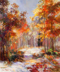 Paintings, HENRI PLISSON (French, 1908-2002). Autumn Landscape . Oil on canvas . 23-1/2 x 19-1/2 inches (59.7 x 49.5 cm). Signed lo...