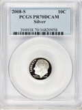 Proof Roosevelt Dimes, 2008-S 10C Silver Proof PR70 Deep Cameo PCGS. PCGS Population(406). NGC Census: (0). Numismedia Wsl. Price for problem fr...