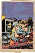Original Comic Art:Miscellaneous, Warren Kremer First Romance Magazine #25 CoverPreliminary/Concept Sketch Original Art (Harvey, 1953).... (Total:2 Items)