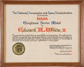 Explorers:Space Exploration, Gemini 4: Exceptional Service Medal Citation Presented by NASA toEd White II in 1965 and Directly from His Personal Collectio...(Total: 3 Items)