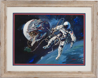 Gemini 4: Robert McCall Original Painting, Circa 1966, Presented to Ed White II and Offered with Ten Flown Mustard Seeds...