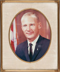 Explorers:Space Exploration, Buzz Aldrin: Photo Signed and Inscribed to His Parents....
