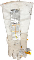 Explorers:Space Exploration, Apollo Program: Training-Used A7L EVA Glove by ILC with Original Jim Irwin Tagging. ...