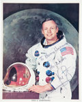 Autographs:Celebrities, Apollo 11: Neil Armstrong Signed White Spacesuit Color Photo....