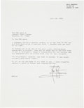 Autographs:Celebrities, Apollo 11: Neil Armstrong Typed Letter Signed with ContentRegarding His Apollo 11 Lunar Surface Extravehicular MobilityUnit....