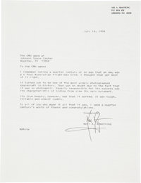 Apollo 11: Neil Armstrong Typed Letter Signed with Content Regarding His Apollo 11 Lunar Surface Extravehicular Mobility...