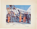 "Autographs:Celebrities, ""Mercury Seven"" NASA Astronaut Group One Large Color Photo Signedby All on the Mat...."