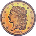 Classic Half Eagles, 1834 $5 Plain 4 MS64 PCGS. First Head, Breen-6501, McCloskey 3-C,R.5....