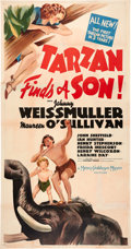 "Movie Posters:Adventure, Tarzan Finds a Son (MGM, 1939). Three Sheet (47"" X 81""). The fourthin the M-G-M Tarzan series, this popular entry has Tarza..."
