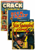 Golden Age (1938-1955):Miscellaneous, Miscellaneous Golden to Silver Age Reading Copy/Coverless Short Box Group (Various Publishers, 1950s-60s)....