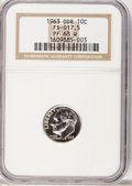 Proof Roosevelt Dimes, 1963 10C DDR PR68 W NGC. FS-017.5. NGC Census: (39/4). PCGSPopulation (201/167). Mintage: 3,075,645. Numismedia Wsl. Pric...