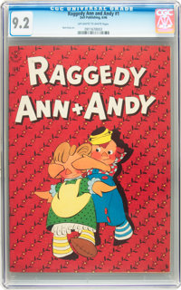 Raggedy Ann and Andy #1 (Dell, 1946) CGC NM- 9.2 Off-white to white pages