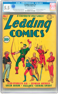 Leading Comics #1 (DC, 1941) CGC FN- 5.5 Cream to off-white pages