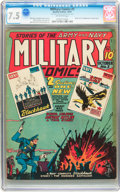 Golden Age (1938-1955):War, Military Comics #3 (Quality, 1941) CGC VF- 7.5 Off-white pages....