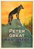"Movie Posters:Drama, Wild Justice (United Artists, 1925). One Sheet (27"" X 41"").. ..."