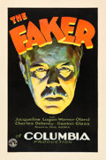 "Movie Posters:Drama, The Faker (Columbia, 1929). One Sheet (27"" X 41"") Style A.. ..."