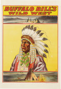 Antiques:Posters & Prints, Buffalo Bill's Wild West: Indian Chief Poster....