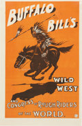 Antiques:Posters & Prints, Buffalo Bill's Wild West: Dramatic Poster....