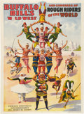 Antiques:Posters & Prints, Buffalo Bill's Wild West: Poster with Sudanese Acrobats....