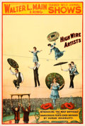 "Movie Posters:Miscellaneous, Walter L. Main Circus Poster (1900). Poster (27"" X 41"").. ..."