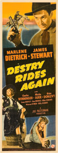 "Movie Posters:Western, Destry Rides Again (Universal, 1939). Insert (14"" X 36"").. ..."