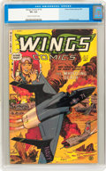 Golden Age (1938-1955):War, Wings Comics #119 (Fiction House, 1953) CGC VF+ 8.5 Cream tooff-white pages....