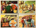 "Movie Posters:Western, The New Frontier (Republic, 1935). Title Lobby Card and Lobby Cards(3) (11"" X 14"").. ... (Total: 4 Items)"