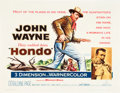 "Movie Posters:Western, Hondo (Warner Brothers, 1953). Half Sheet (22"" X 28"").. ..."