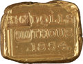Western Expansion:Goldrush, California Gold: A Very Well-Made Reproduction of a Small OriginalG. Blake Assayer Gold Bar. ...
