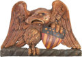 Antiques:Decorative Americana, Patriotic Eagle Stern-board Carving....