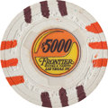 Miscellaneous:Gaming Chips, Frontier Hotel and Casino: A Very Scarce $5,000 Chip. ...