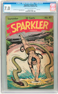 Golden Age (1938-1955):Miscellaneous, Sparkler Comics #47 (United Features Syndicate, 1945) CGC FN/VF 7.0 Light tan to off-white pages....