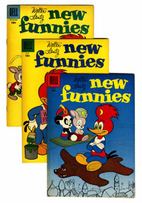 New Funnies File Copy Group (Dell, 1953-62) Condition: Average VF/NM.... (Total: 46 Comic Books)