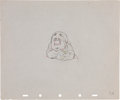 Animation Art:Production Drawing, Snow White and the Seven Dwarfs Sleepy Pencil AnimationDrawing Original Art (Disney, 1937)....