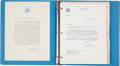 "Explorers:Space Exploration, Buzz Aldrin: Apollo 11 ""Giantstep"" World Tour Peace Corps BriefingBook Originally from His Personal Collection...."