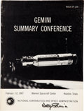 Explorers:Space Exploration, Gemini Summary Conference Book Originally from the PersonalCollection of Gemini 6A Command Pilot Walter Schirra, Sign...