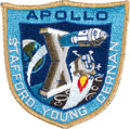 Explorers:Space Exploration, Apollo 10 Flown Embroidered Mission Insignia Patch Directly from the Personal Collection of Mission Command Module Pilot John ...